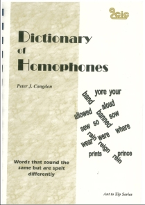 Dictionary of Homophones